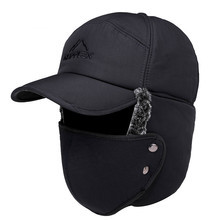 Hat Winter Women New Warm Thick And Windproof Outdoor Baseball-Cap Trend-Hat Couple Ear-Protection
