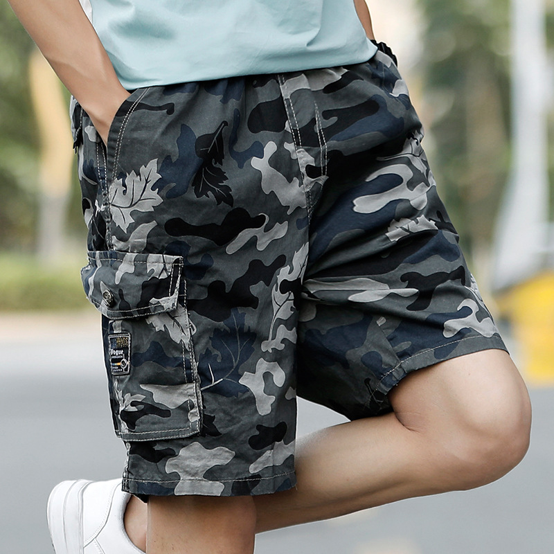 2019 New Style Trend Cool Camouflage Shorts Cotton Loose Casual Pants Men's Pure Cotton Army Workwear