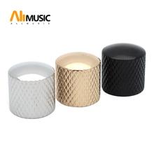 100 قطعة قبة معدنية لهجة ضبط المقابض حجم التحكم أزرار للكهرباء الغيتار باس الكروم/أسود/الذهب ، قطر 18 مللي متر