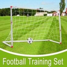 126x45x71cm Kids Mini Football Gate Goal Post Net Ball Pump Soccer Door Outdoor ABS Sport Match Training Toy(China)
