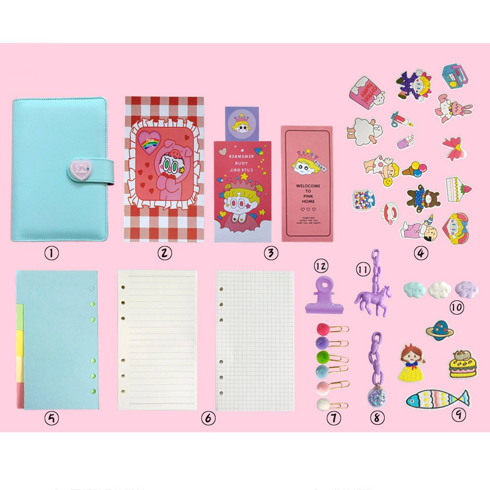 New diary cute cartoon notebook girl heart account plan loose-leaf