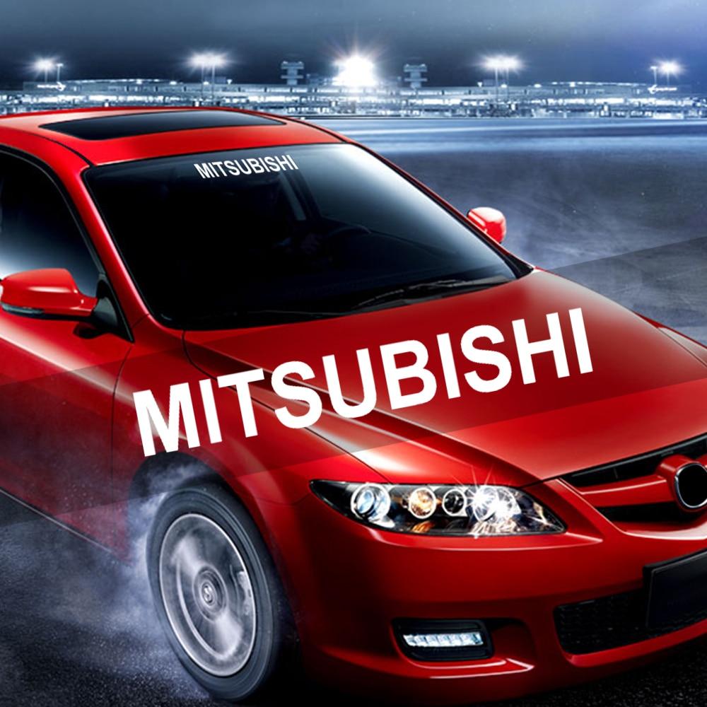 High-quality Car Logo Decal Car Windscreen Sticker Rear Window Bumper Decal Car Vinyl Sticker For Mitsubishi ASX Lancer Pajero
