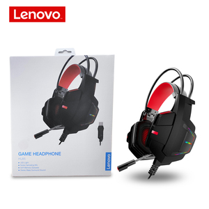 Image 5 - Lenovo HU85 Gaming ชุดหูฟังสเตอริโอแบบมีสายหูฟัง USB Gaming หูฟังพร้อมไมโครโฟนสำหรับแล็ปท็อป PS4