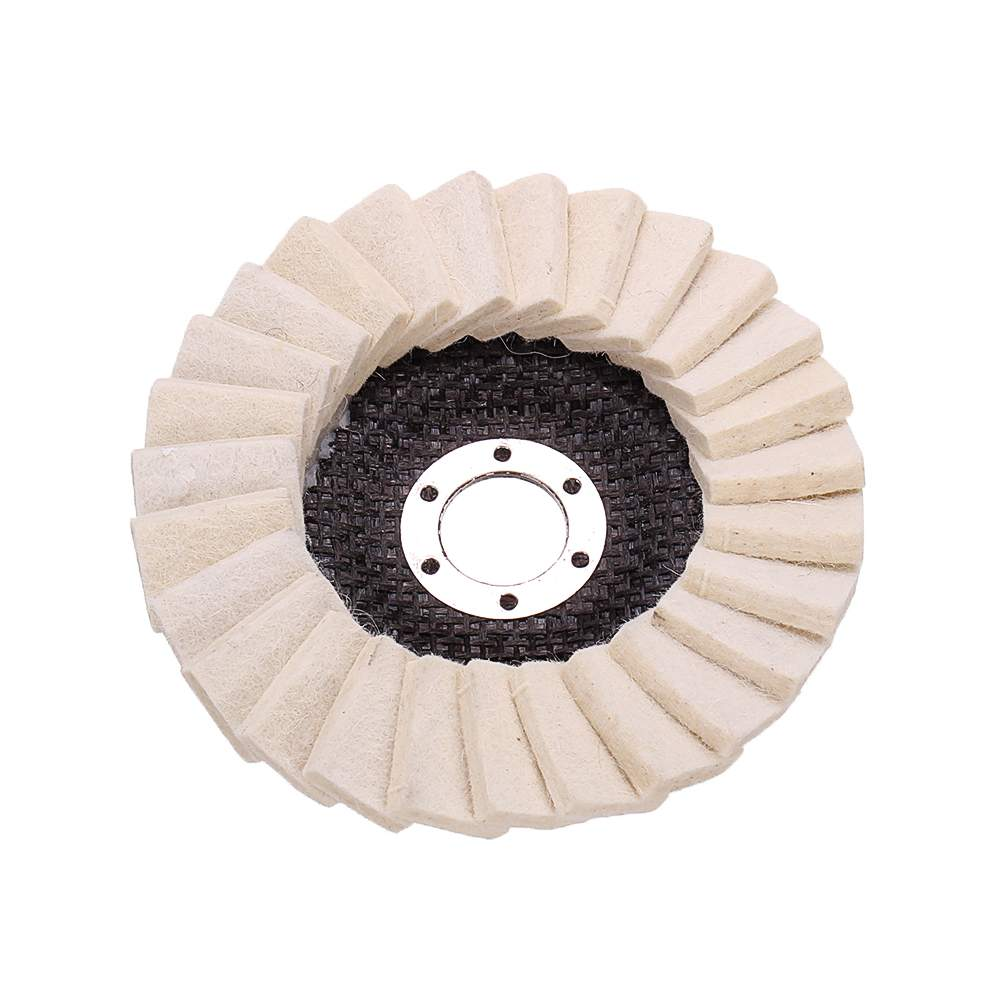 130mm Stianless Steel Wool Felt Flap Polishing Wheel Disc Angle Grinder Buffing Pads For Medical Glass Marble Metal