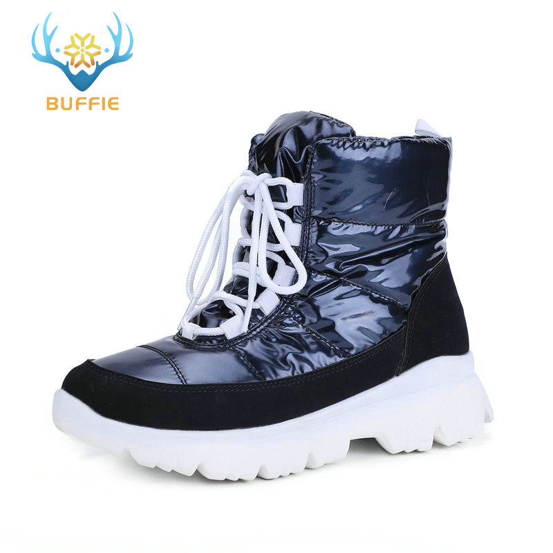 2019 new women snow boots winter warm boots short low upper navy colour non-slip sole 50% natural wool lace up free shipping hot
