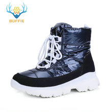 Купить с кэшбэком 2019 new women snow boots winter warm boots short low upper navy colour non-slip sole 50% natural wool lace up free shipping hot
