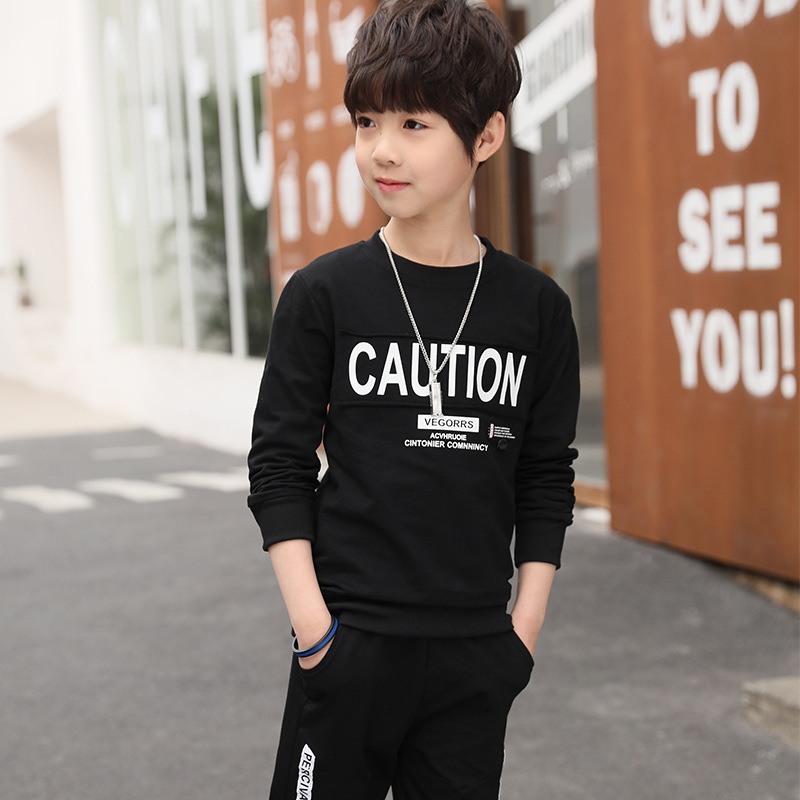 TUONXYE Fashion Children Clothes Set For Boys Cotton Long Sleeve Sports Tracksuit Kids Tops+Pants Outfits Teens Clothing Suits 3