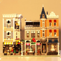 15019 Creator City Street Romantic Restaurant Set Street View Building Block 4002pcs Brick Toys Compatible Creator 10255