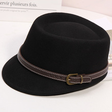 Inverno donna tinta unita cappello ottagonale Lady Party cappelli Fedora moda feltro cappellini strillone 100% lana cappellino equestre 56 58cm