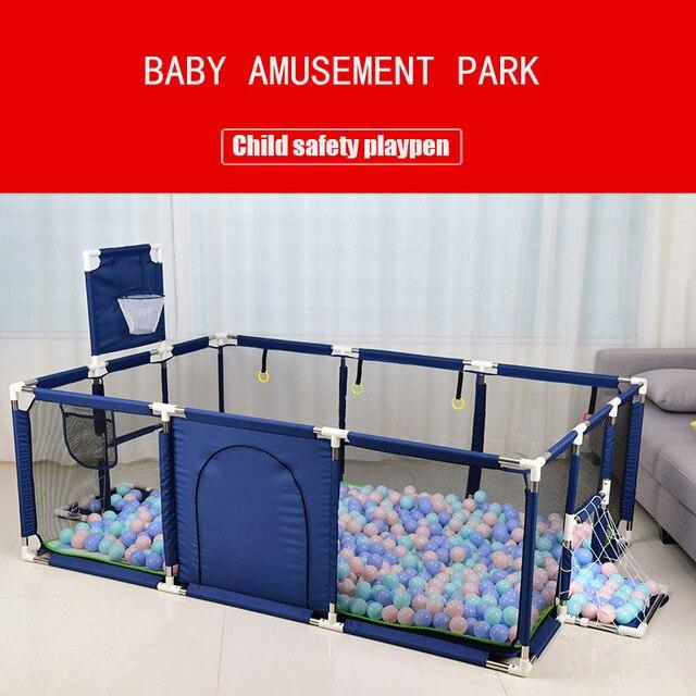Children's Playpen with Nets Baby Playpen Children Fence Baby Playground Baby Park Child Safety Barrier Kids Ball Pit Playpen 1