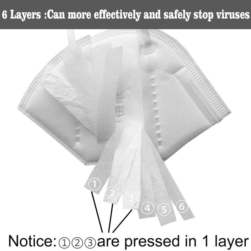 10pcs mask N95 anti virus Professional Mask Pre sale  Disposable Elastic Mouth Soft Breathable  CE Face Mask N95 anticorona mask 16