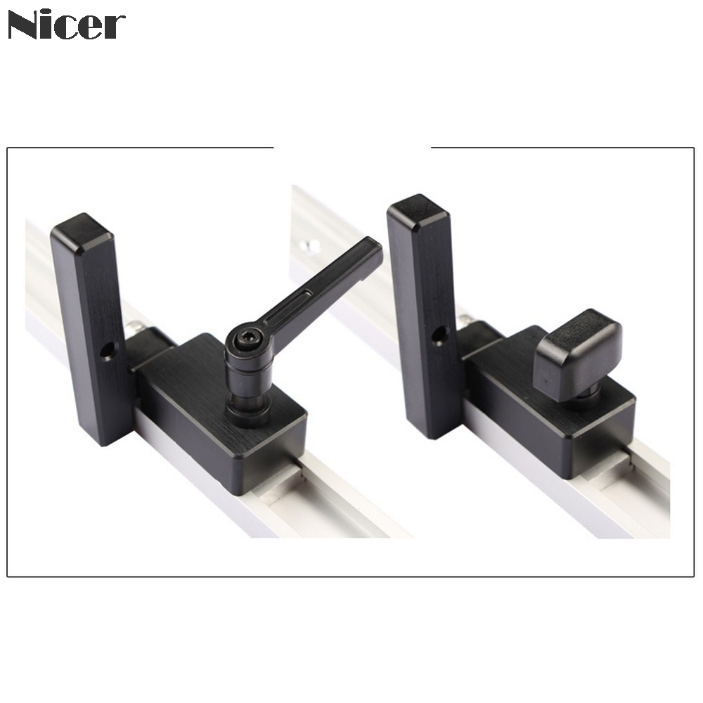 30 Type Miter Track Stop Aluminum Alloy T-track Stop T-slot Miter Track Chute Limiter Woodworking DIY Tools
