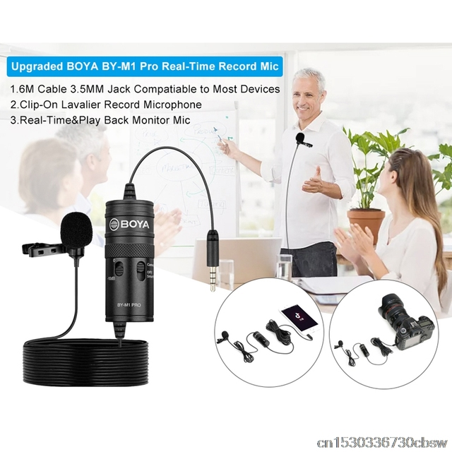 BOYA BY M1 M1Pro 3.5mm Microphone Game Woman Streaming for Singing Karaoke Phone Pc Telephone Laptop Gaming Mini Microphones MIC