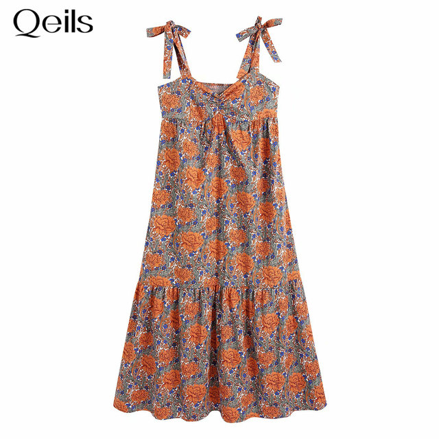 Qeils Mini Long Sleeve Dress Women Sexy Print Single Breasted Wrinkle  Casual Women Dress  Summer 2021  Elegant Dresses 1