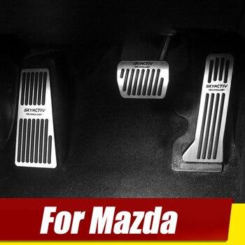 Для Mazda 2 3 6 BM GJ CX-5 CX5 KE KF CX-3 CX7 CX-8 CX-9 Axela ATenza ускоритель автомобиль Подножка педаль тормоза сцепления Pad Аксессуары для велосипеда