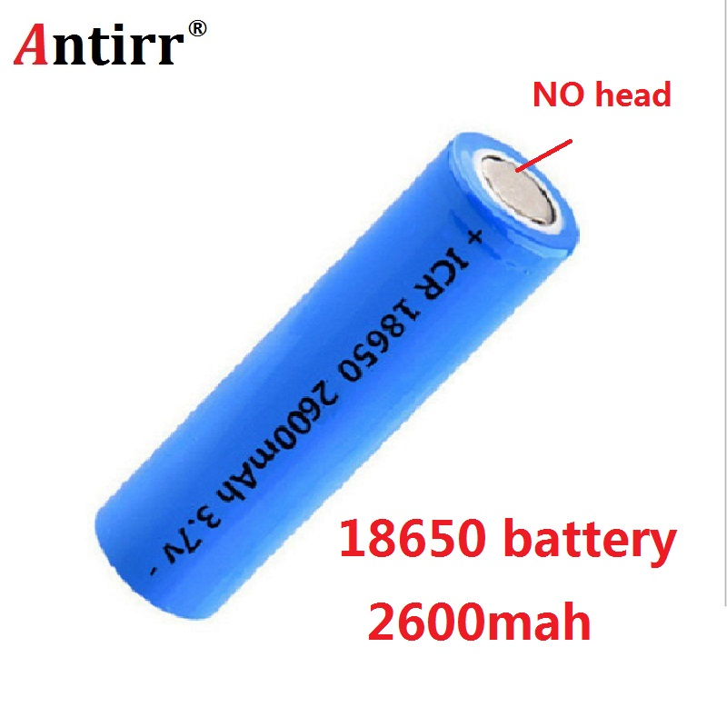 Antirr Original 18650 2600mAh Rechargeable Battery 18650 Li Ion 3.7v ICR Rechargeable Batterie For Samsung 18650 Battery