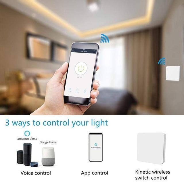Relé Wifi Tuya con pulsador inalámbrico.  5