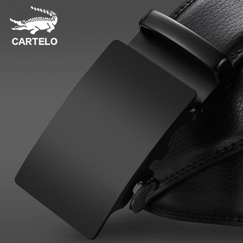 Мужские удлиненные ремни CARTELO, модные повседневные кожаные ремни с автоматической пряжкой в минималистском стиле, кофейные ремни|Мужские ремни|   | АлиЭкспресс