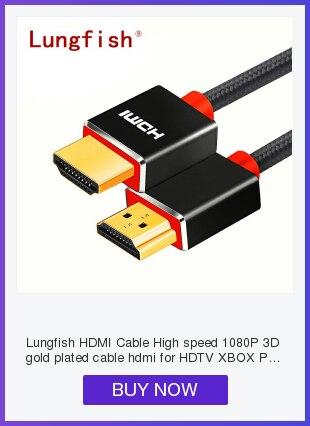 Hfec3a192497f4ac29bddf77c3c5d23abb Lungfish High-speed FLAT HDMI cable  Supports 3D Resolution Ethernet 1080P Audio Return 0.3M 1M 1.5M 2M 3M 5M 7.5M 10M 15M