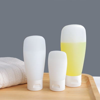 30/60/100ML Empty Frosted Soft Refillable Bottles Travel Use Plastic Lotion Tubes Squeeze Cosmetic Container Flip Cover Hose