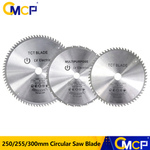 1pc 250/255/300mm Circular Saw Blade TCT Wood Saw Blade Soft Metal Woodworking Saw Cutting Disc