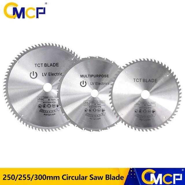 1pc 250/255/300mm Kreissäge Klinge TCT Holz Sägeblatt Weichen Metall Holz Sah Schneiden disc
