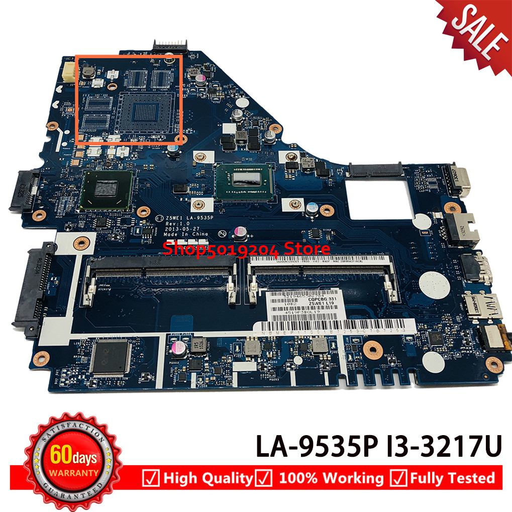 <font><b>Z5WE1</b></font> LA-9535P mainboard For <font><b>acer</b></font> aspire <font><b>E1</b></font>-570 <font><b>E1</b></font>-570G Laptop <font><b>motherboard</b></font> SR0N9 i3-3217U image