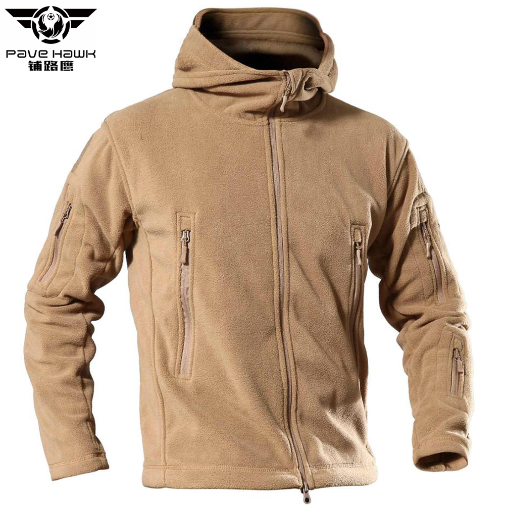 Fleece Jacket Windbreaker Army Outerwear Military-Coat Hooded Warm Winter 4XL Men Women