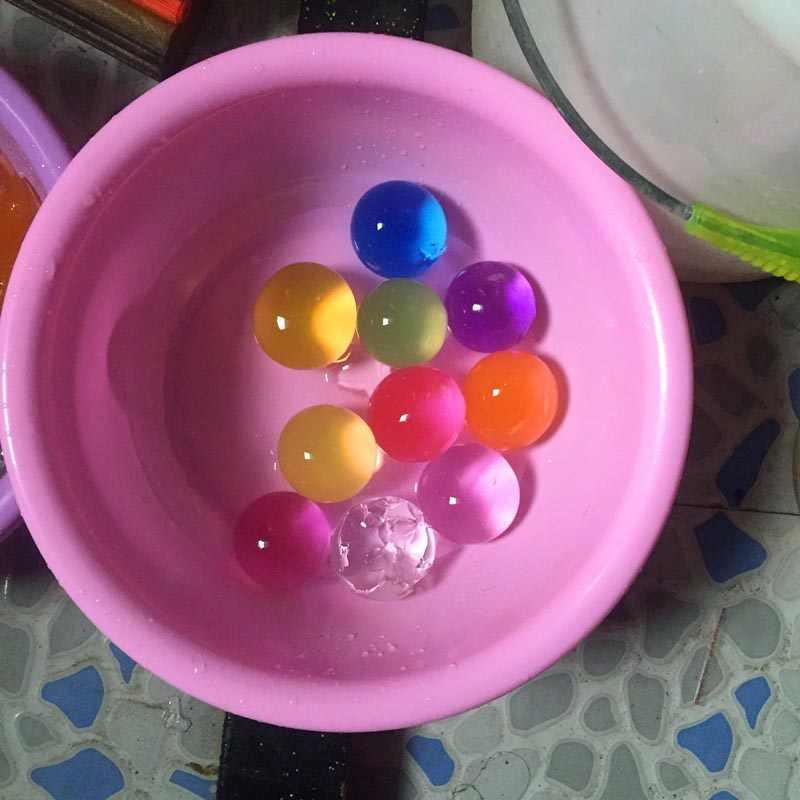 10 יח'\חבילה גדול קריסטל בוץ קרקע הידרוג 'ל ג' ל ילדים ילדי צעצוע מים חרוזים גדל Orbiz מים כדורי חתונת בית תפאורה F
