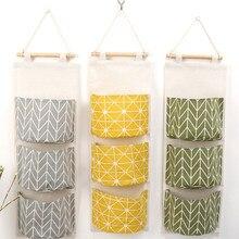 Sacs de rangement suspendus muraux, pochettes de rangement suspendues pour décoration cuisine salle de bains 3 couleurs