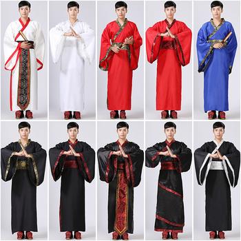 10 kolorów mężczyzna Hanfu tradycyjna chińska odzież starożytny kostium festiwal strój odzież sceniczna kostiumy do tańca ludowego tanie i dobre opinie Yangko Taniec Kostium COTTON Poliester Solid S M L XL 2XL 3XL 10Color Dress Traditional Chinese clothing Ancient costume