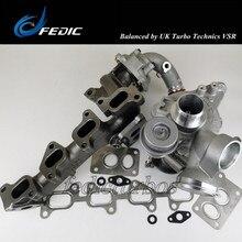 Turbocompresseur double R2S KP35K04 10009700065 53049880102, turbo complet pour VW Amarok 2.0 BiTDI 120 Kw 163 HP CFCA 2010