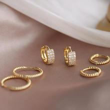 Серьги кольца женские из серебра витые широкие маленькие украшения