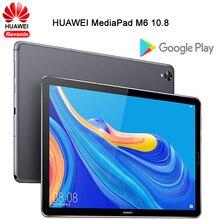 오리지널 화웨이 MediaPad M6 10.8 인치 기린 980 옥타 코어 안드로이드 9.0 태블릿 타입 C 7500mAh 2560x1600 지문 IPS 스크린