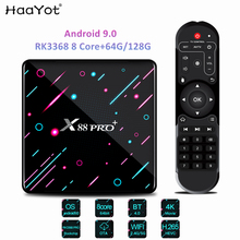 HAAYOT Android 9.0 Smart TV Box Rockchip Rk3368 8 core 4G 64