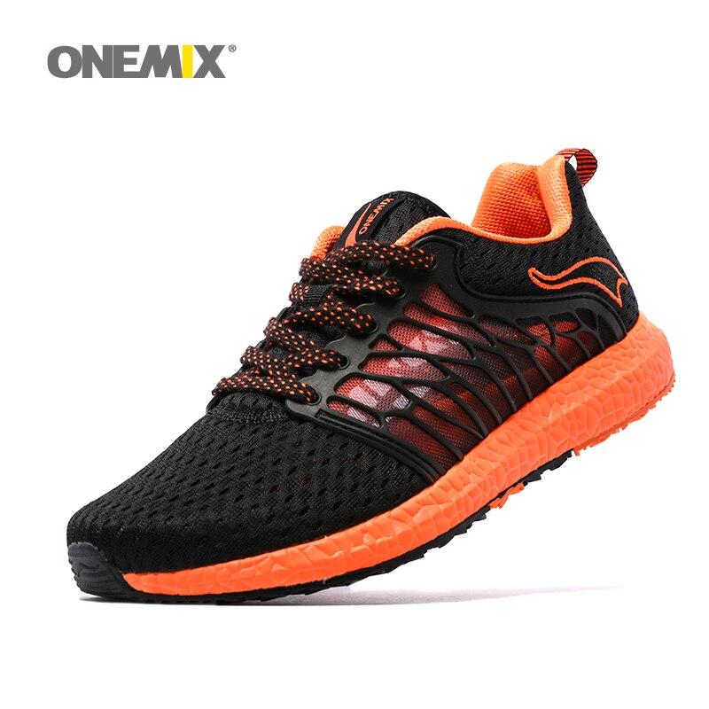 ONEMIX Light Walking Sneakers For Men Summer Outdoor Running Shoes Black Zapato De Hombre  Breathable Mesh Men Athletic Shoes