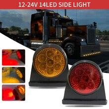2X Red Amber corner side Sign LED light overview light truck trailer van bus 12V LED car lighting