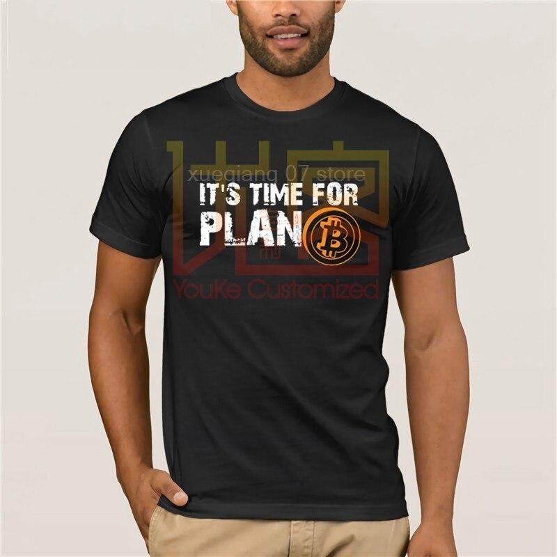 時間計画 Bitcoin BTC 暗号通貨 Tシャツ半袖カスタム Tシャツ Pp Camiseta 綿クルーネックビッグサイズ男性 tシャツ