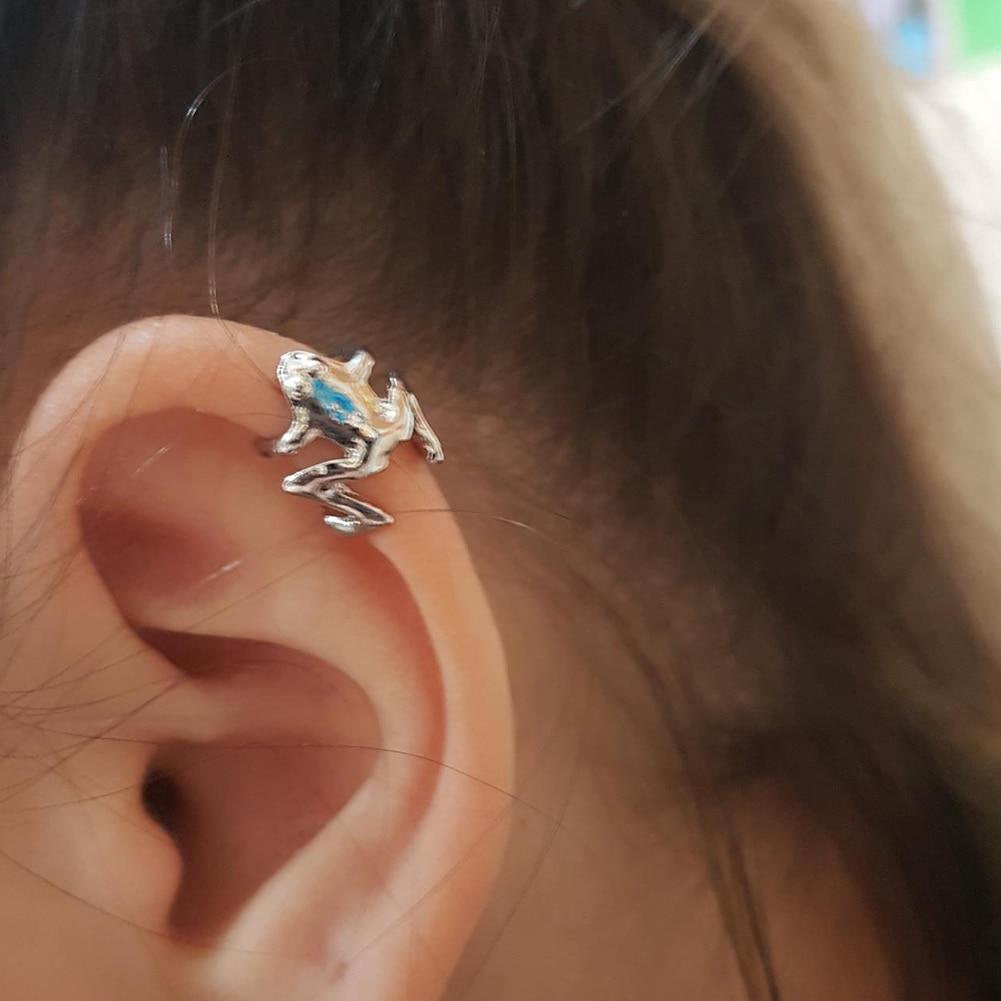 2020 Fashion Frog Ear Cuffs Siliver Ear Cuff Clip Earrings For Women Earcuff No Piercing Fake Cartilage Earrings
