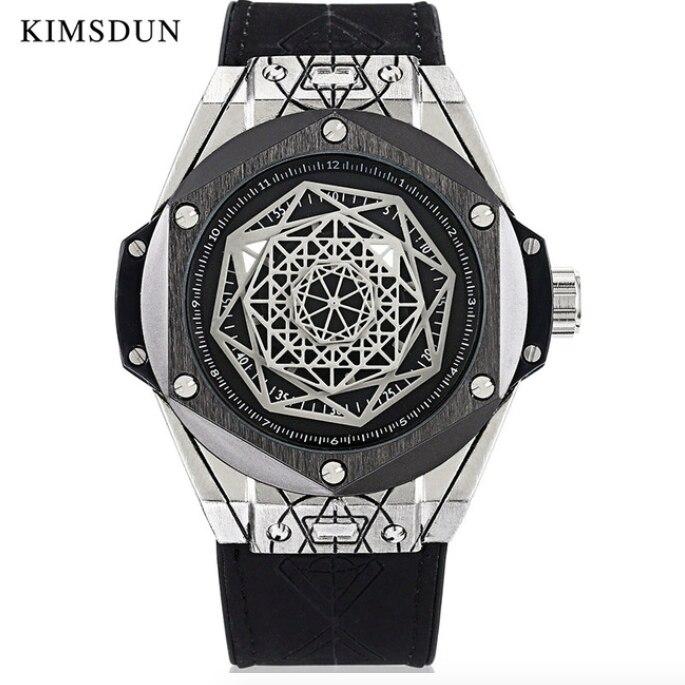 Sports Mens Watches Top Brand Luxury Quatz Wristwatch Male Geomtric Polygon Silicone Waterproof Luminous Designer Gift Clock