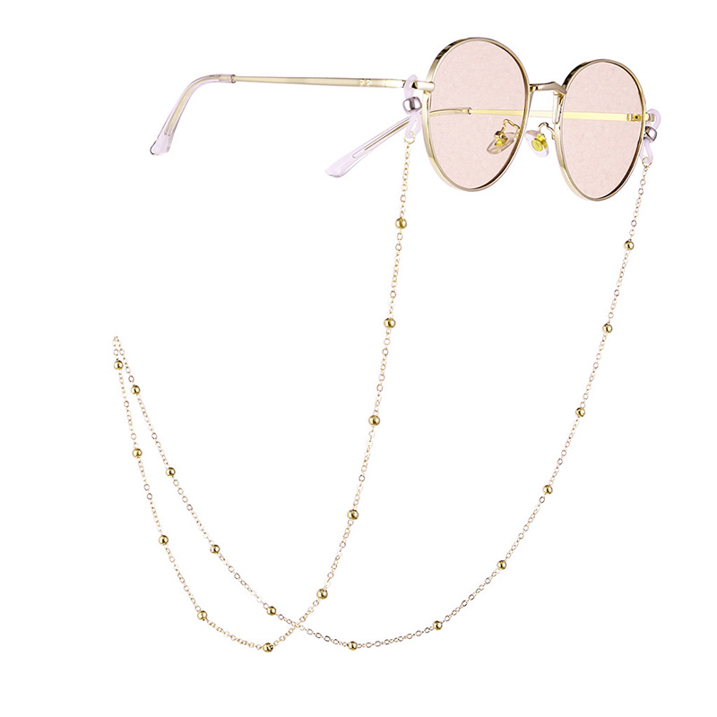 70cm Elegant Eyeglass Chain Sunglasses Reading Beaded Glasses Chain Eyewear Rope Lanyards Rose Gold Silver Glass Cord Neck Strap
