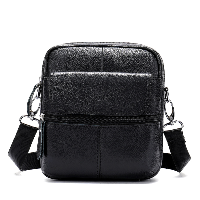 1PCS New Simple Men's Messenger Shoulder Bag Vertical Square Mini Men's Bag Leisure Outdoor Messenger Bag Briefcase