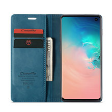 Retro Phone Case For Samsung Galaxy S10 5G Luxury Credit Card Wallet Stand Magnetic Leather Flip Cover