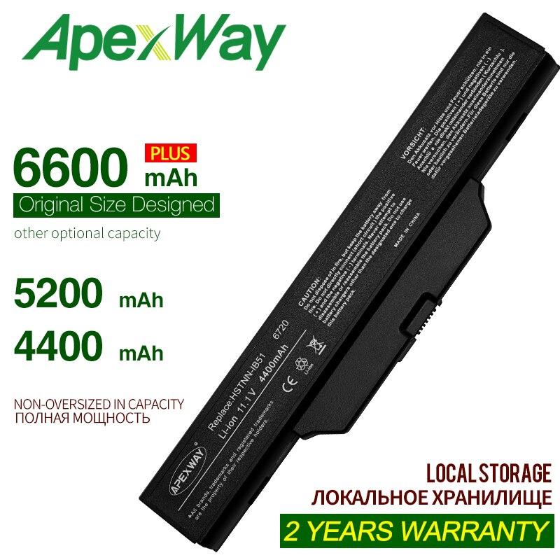 Bilgisayar ve Ofis'ten Dizüstü Bilgisayar Bataryaları'de ApexWAay dizüstü HP için batarya COMPAQ 550 610 615 6720s 6730s 6735s 6820s 6830s HSTNN IB62 HSTNN OB62 HSTNN IB51 title=