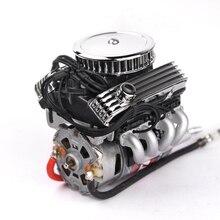 Motor elétrico de radiador, motor elétrico f82 v8 simular ventilador de refrigeração do radiador para 1:10 escala rc scx10 90046 trx4 redcat gen8
