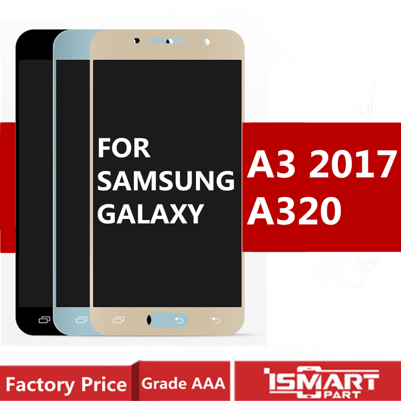 <font><b>A320</b></font> <font><b>LCD</b></font> For Samsung Galaxy A3 2017 Display Touch Screen Digitizer Assembly TFT <font><b>Lcd</b></font> brightness Can adjust A320F A320Y A320M image