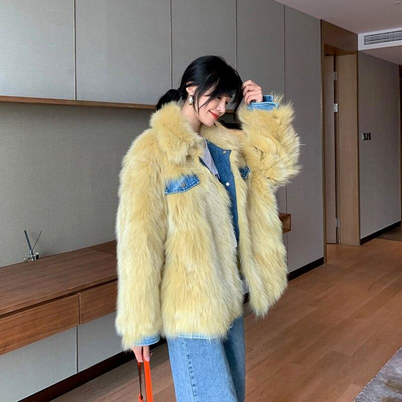 Real Fur Coat Female Jacket Autumn Winter 100% Fox Fur Coat Women Clothes 2020 Korean Vintage Warm Thick Tops Manteau Femme