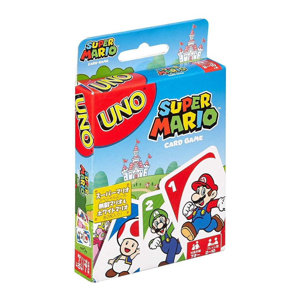 Mattel Uno Super Mario Card Games Familie Grappig Entertainment Bordspel Poker Kinderen Speelgoed Speelkaarten