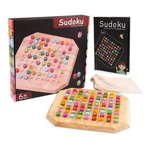 Детская деревянная игрушка Sudoku Puzzle Monterssori, Развивающие деревянные игрушки, логическое мышление, настольная игра, детские подарки