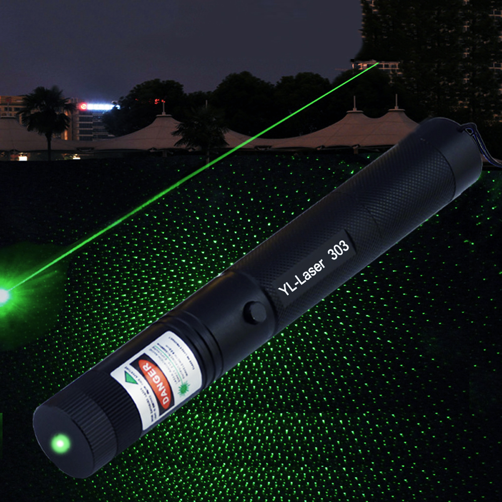 Green Laser Pointer 532nm 5mW 303 Laser Pen High Power Adjustable Starry Head Burning Match Lazer Without Battery